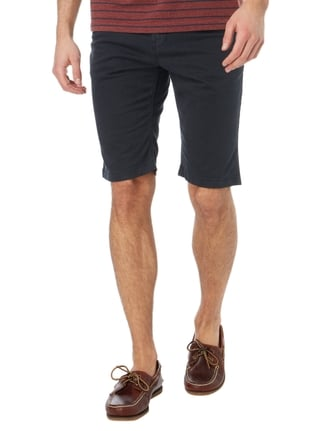 Tom Tailor Slim Fit Chinoshorts mit Gürtel Marineblau - 1