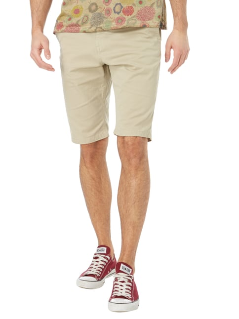 Tom Tailor Slim Fit Chinoshorts mit Gürtel Sand - 1