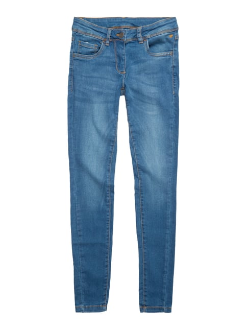 Stone Washed Comfy Fit 5-Pocket-Jeans Blau / Türkis - 1