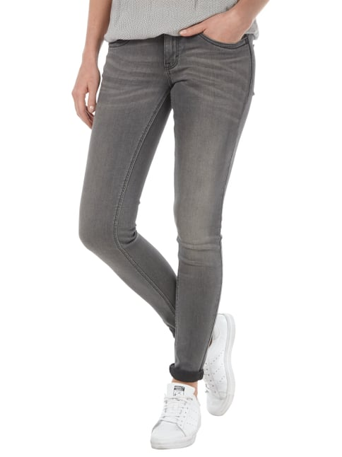 Tom Tailor Stone Washed Jeans im Skinny Fit Mittelgrau - 1