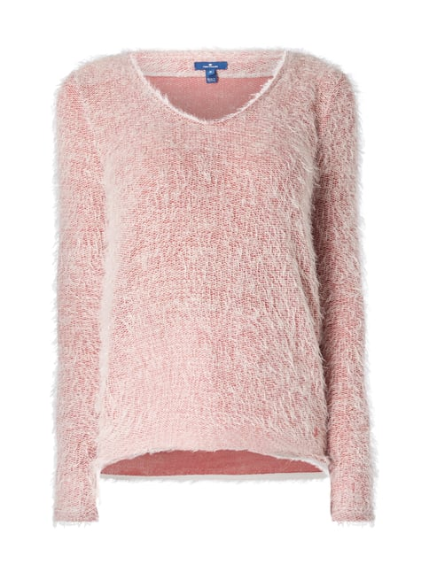 Strickpullover im Double-Layer-Look Rosé - 1