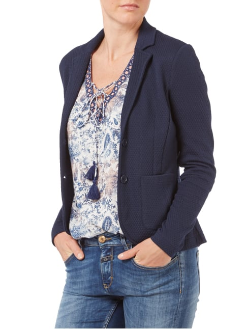 Tom Tailor Sweatblazer mit 2-Knopf-Leiste Marineblau - 1