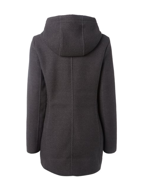 Tom Tailor Sweatjacke mit Fleecefutter Anthrazit - 1