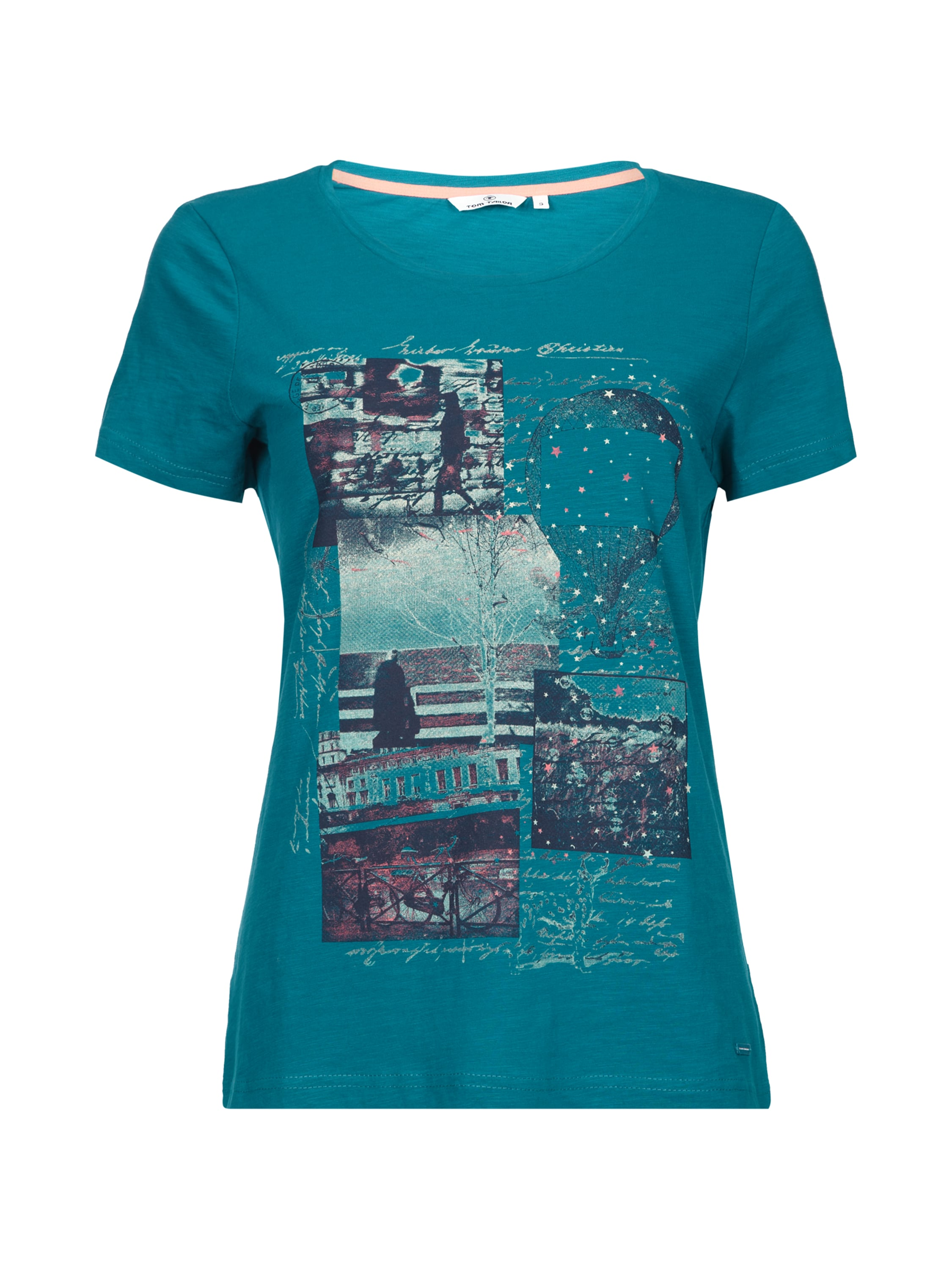 Tom tailor t shirt mit print in gr n online kaufen for Tailored t shirts online