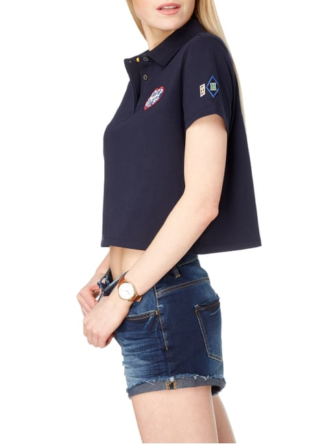 Tommy Hilfiger Cotton Pique Cropped Polo Gigi Hadid Dunkelblau - 1