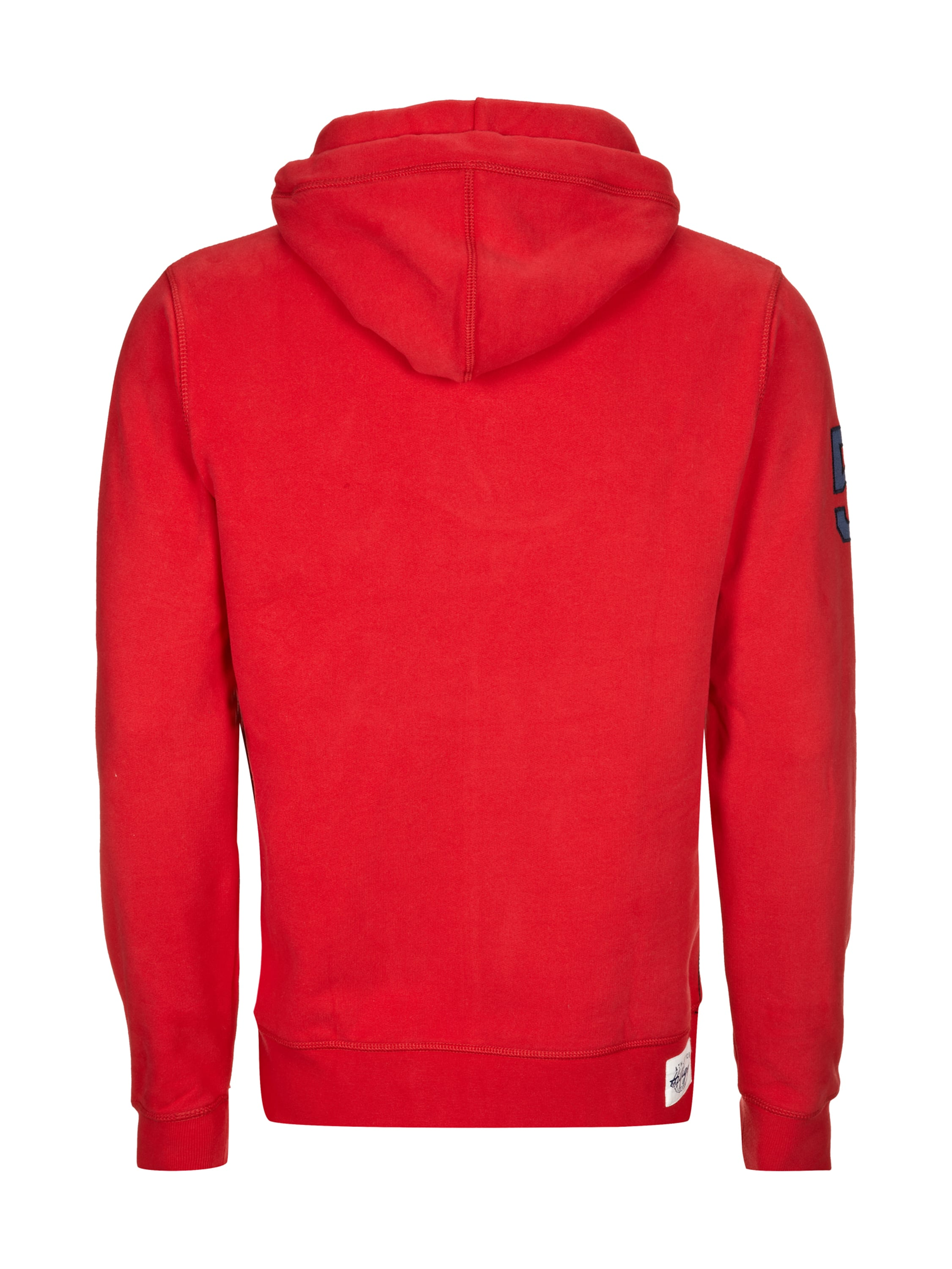 tommy hilfiger hoodie mit logo flockprint in rot online kaufen 8920512 p c online shop. Black Bedroom Furniture Sets. Home Design Ideas