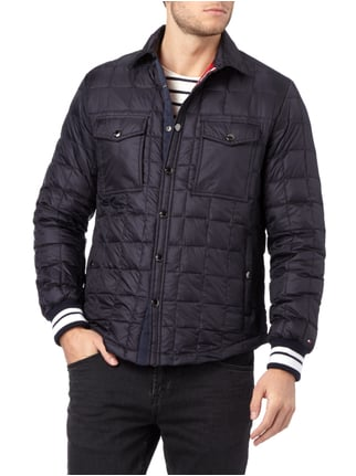 Tommy Hilfiger Light-Daunen Steppjacke mit Umlegekragen Marineblau - 1