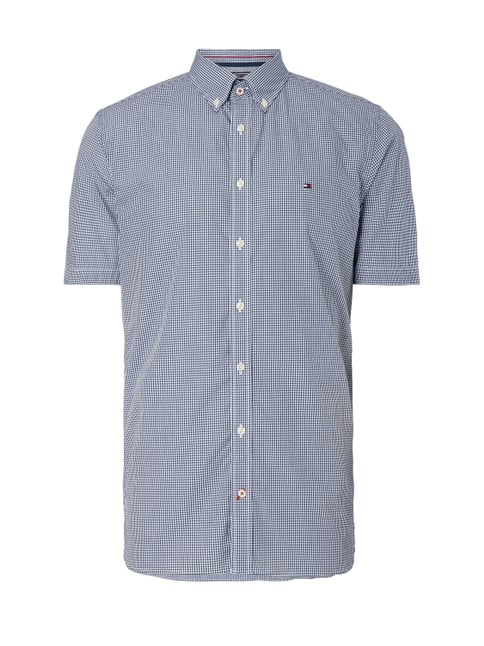 New York Fit Freizeithemd mit Button-Down-Kragen Blau / Türkis - 1