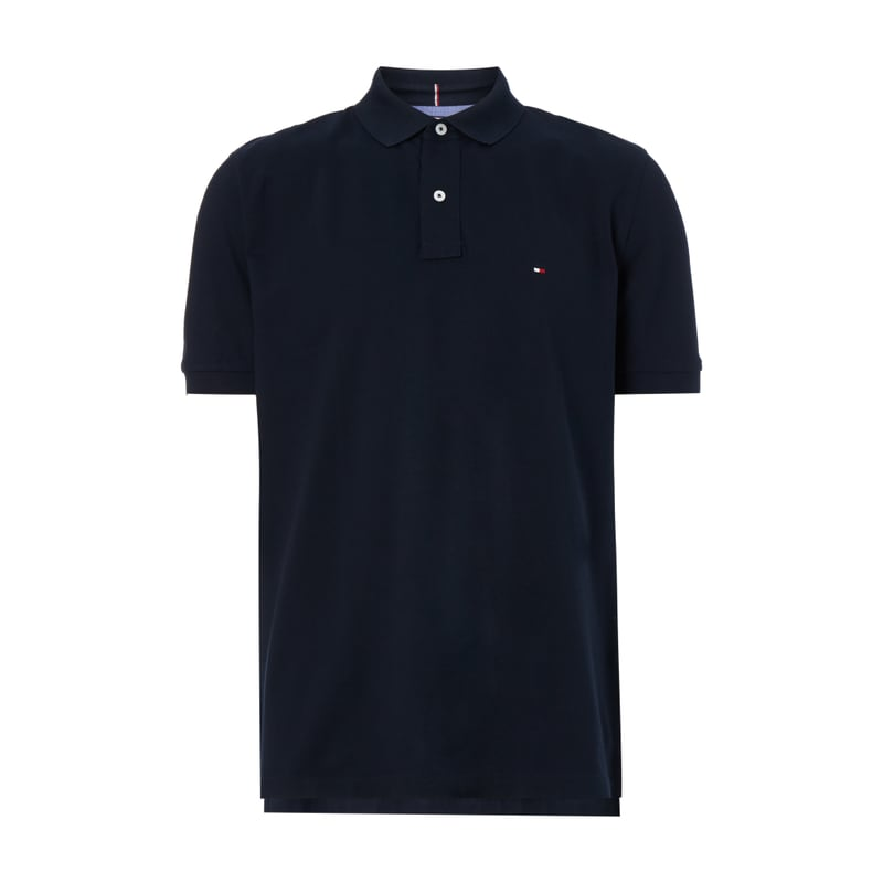 tommy hilfiger poloshirt mit logo stickerei the. Black Bedroom Furniture Sets. Home Design Ideas