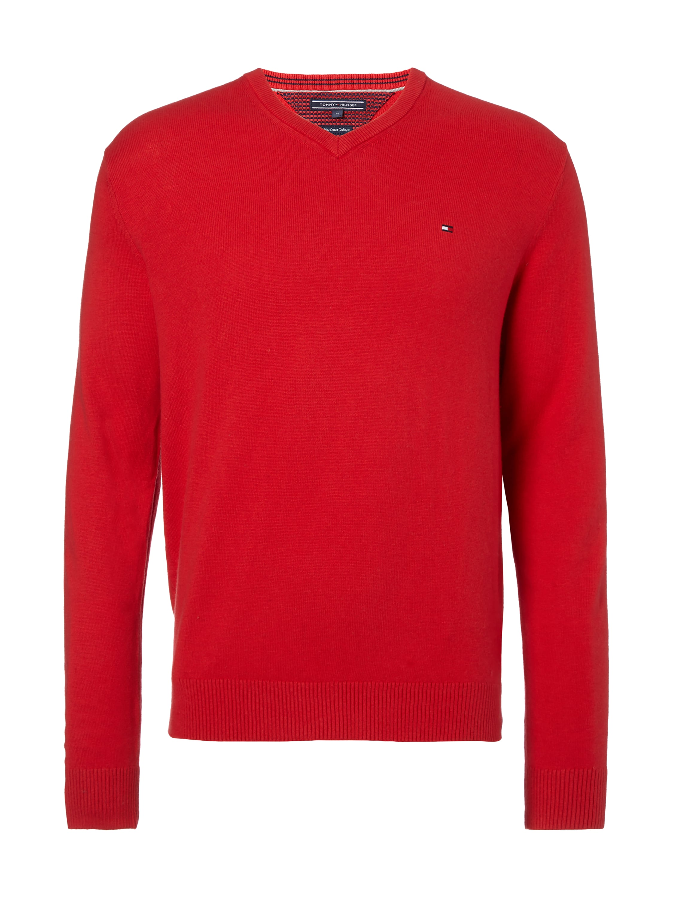 tommy hilfiger pullover mit kaschmir anteil in rot online. Black Bedroom Furniture Sets. Home Design Ideas