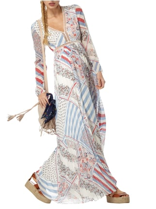 Tommy Hilfiger Pure Silk Printed Maxi Dress Gigi Hadid in Weiß - 1