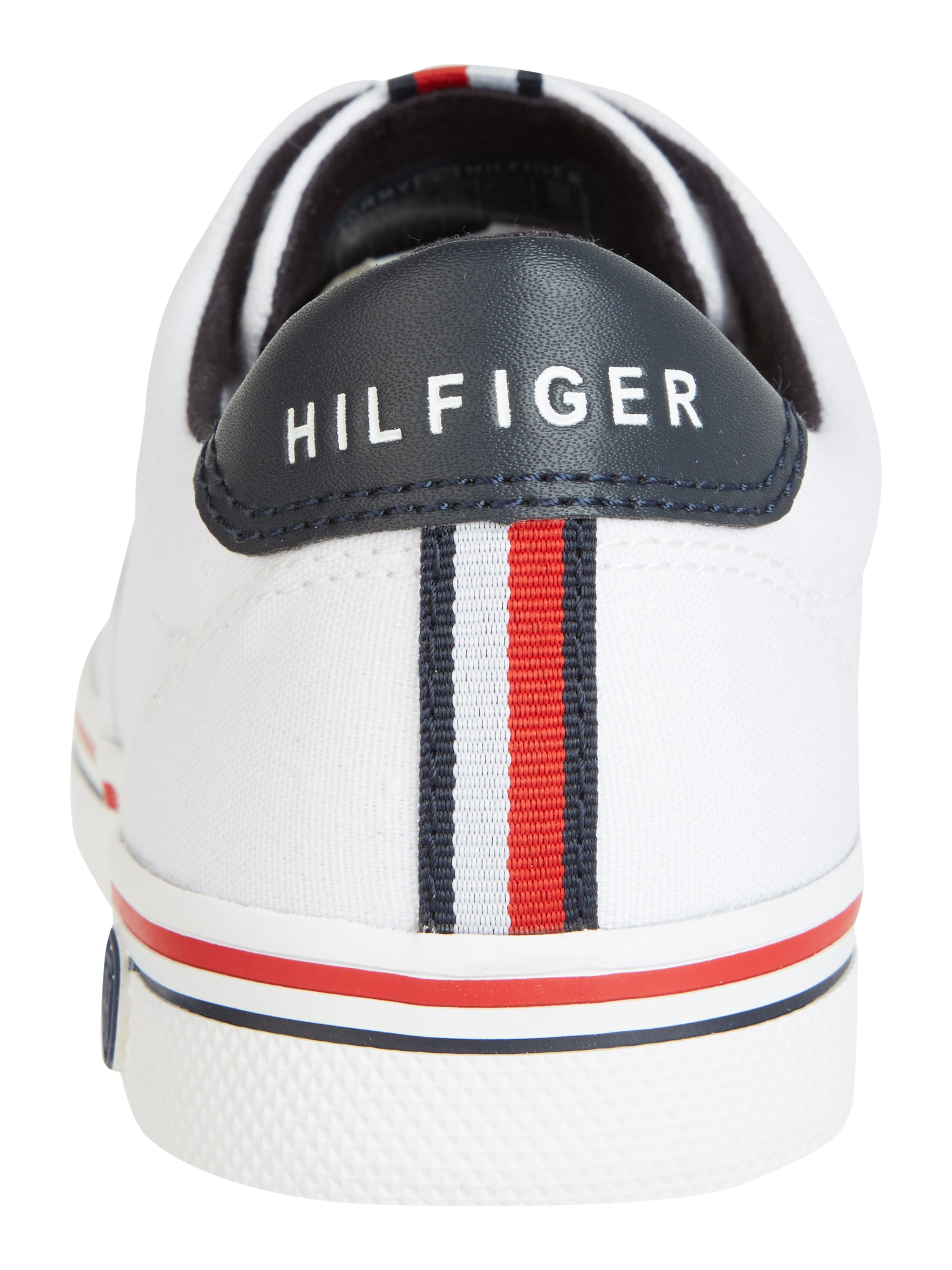tommy hilfiger sneaker aus canvas in wei online kaufen. Black Bedroom Furniture Sets. Home Design Ideas