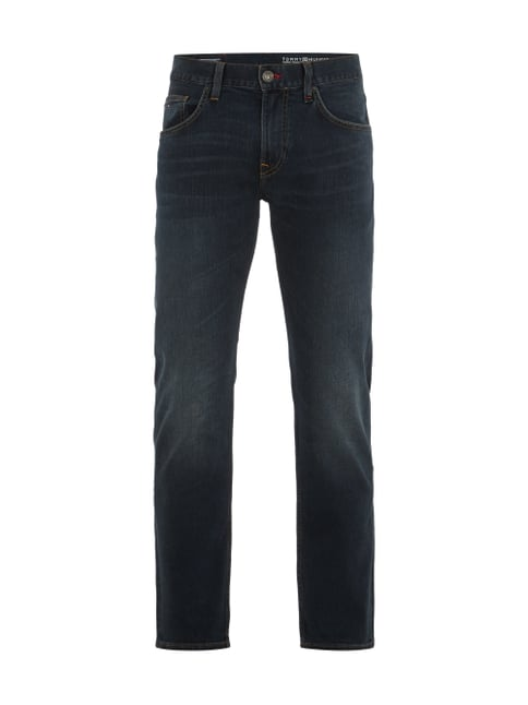 Stone Washed Jeans im Straight Fit Blau / Türkis - 1
