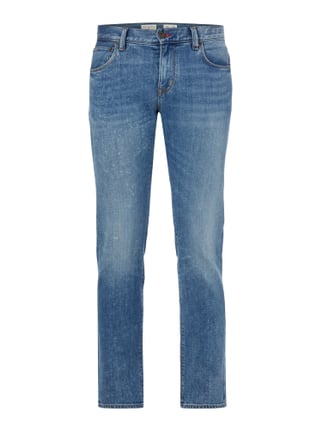 Stone Washed Straight Fit Jeans Blau / Türkis - 1