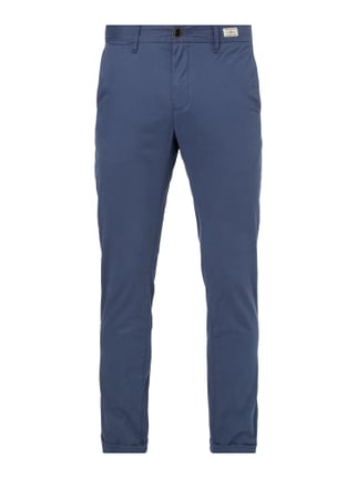Straight Fit Chino mit Stretch-Anteil Blau / Türkis - 1