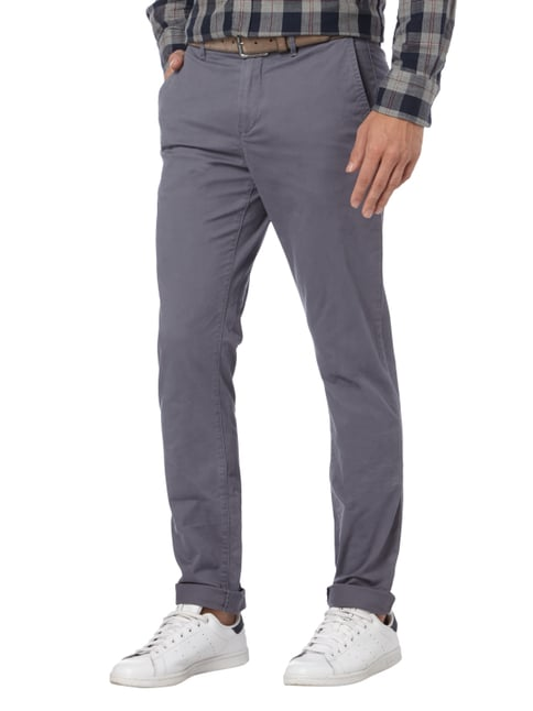 Tommy Hilfiger Straight Fit Chino mit Stretch-Anteil Graphit - 1