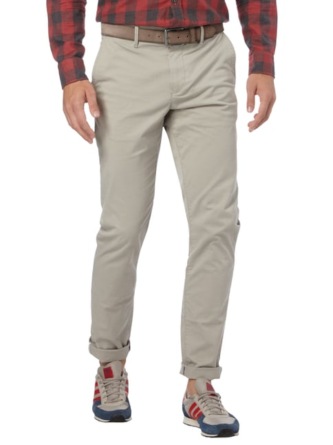 Tommy Hilfiger Straight Fit Chino mit Stretch-Anteil Kitt - 1