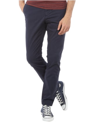 Tommy Hilfiger Straight Fit Chino mit Stretch-Anteil Marineblau - 1