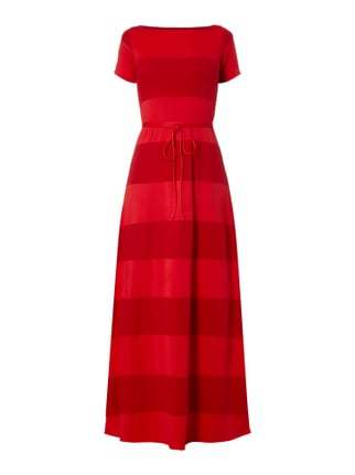 Striped Maxi Dress Gigi Hadid Rot - 1