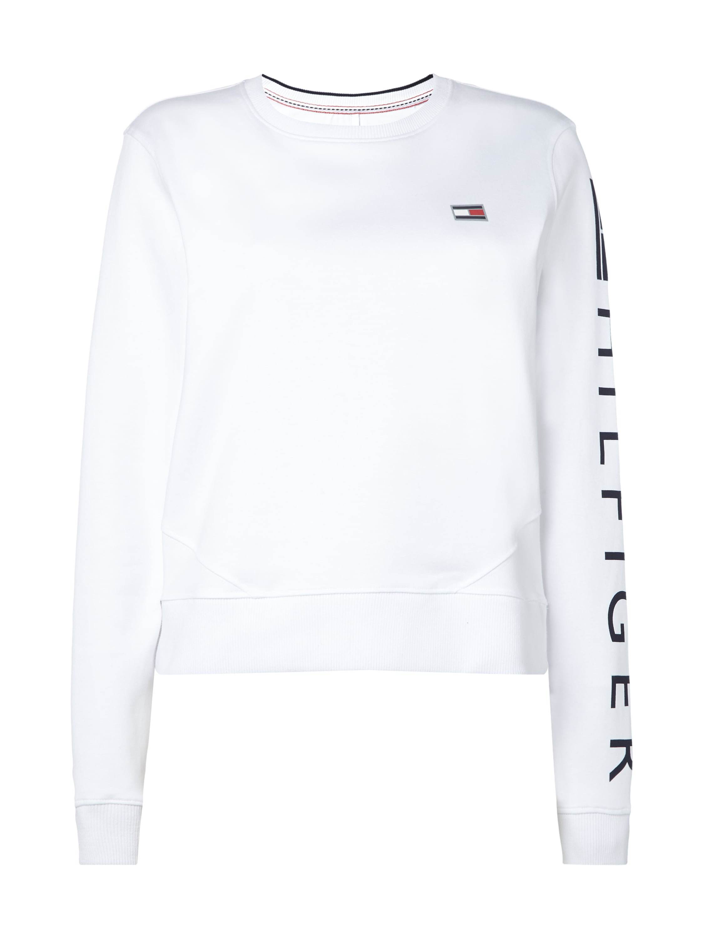 tommy hilfiger sweatshirt mit logo prints in wei online. Black Bedroom Furniture Sets. Home Design Ideas