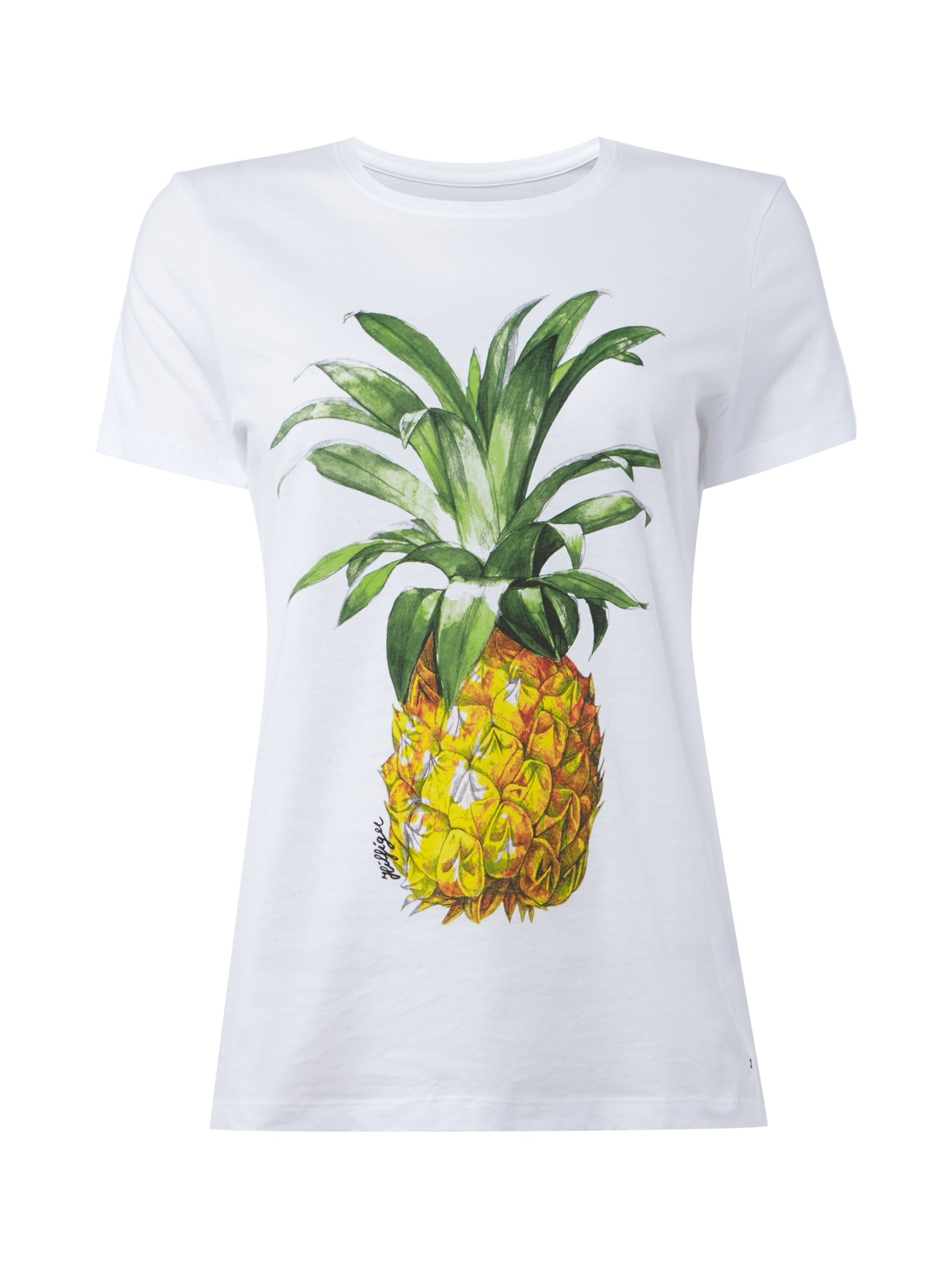 t shirt mit ananas print fashion id online shop. Black Bedroom Furniture Sets. Home Design Ideas