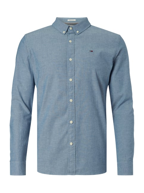 Regular Fit Freizeithemd mit Button-Down-Kragen Blau / Türkis - 1