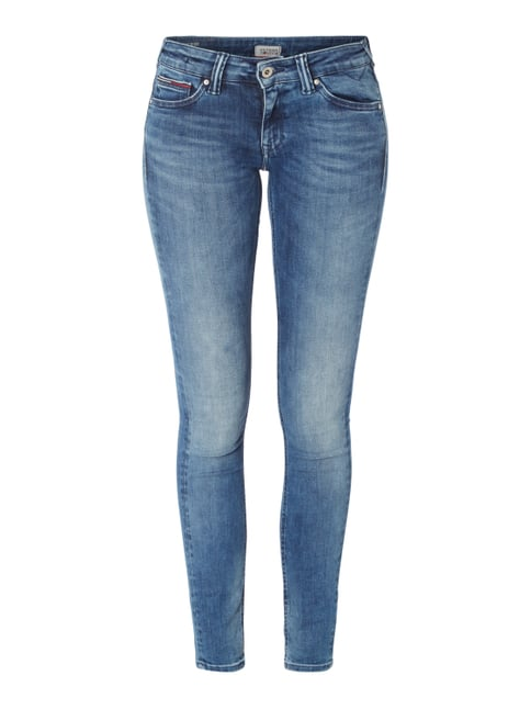 Skinny Fit Dynamic Stretch 5-Pocket-Jeans Blau / Türkis - 1