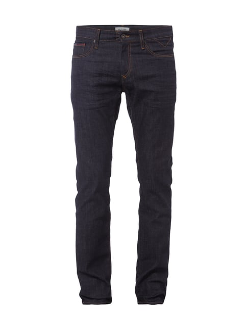 Slim Fit 5-Pocket-Jeans im Rinsed Washed-Look Blau / Türkis - 1