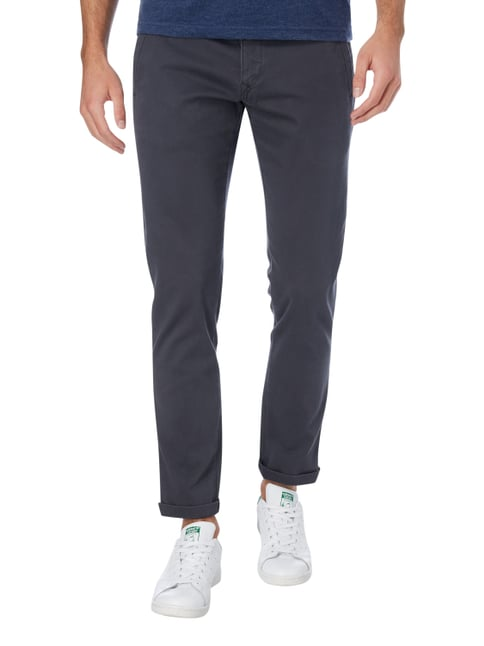 Hilfiger Denim Slim Fit Chino mit Stretch-Anteil Dunkelgrau - 1