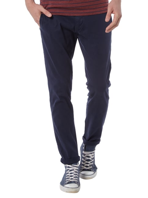 Hilfiger Denim Slim Fit Chino mit Stretch-Anteil Marineblau meliert - 1