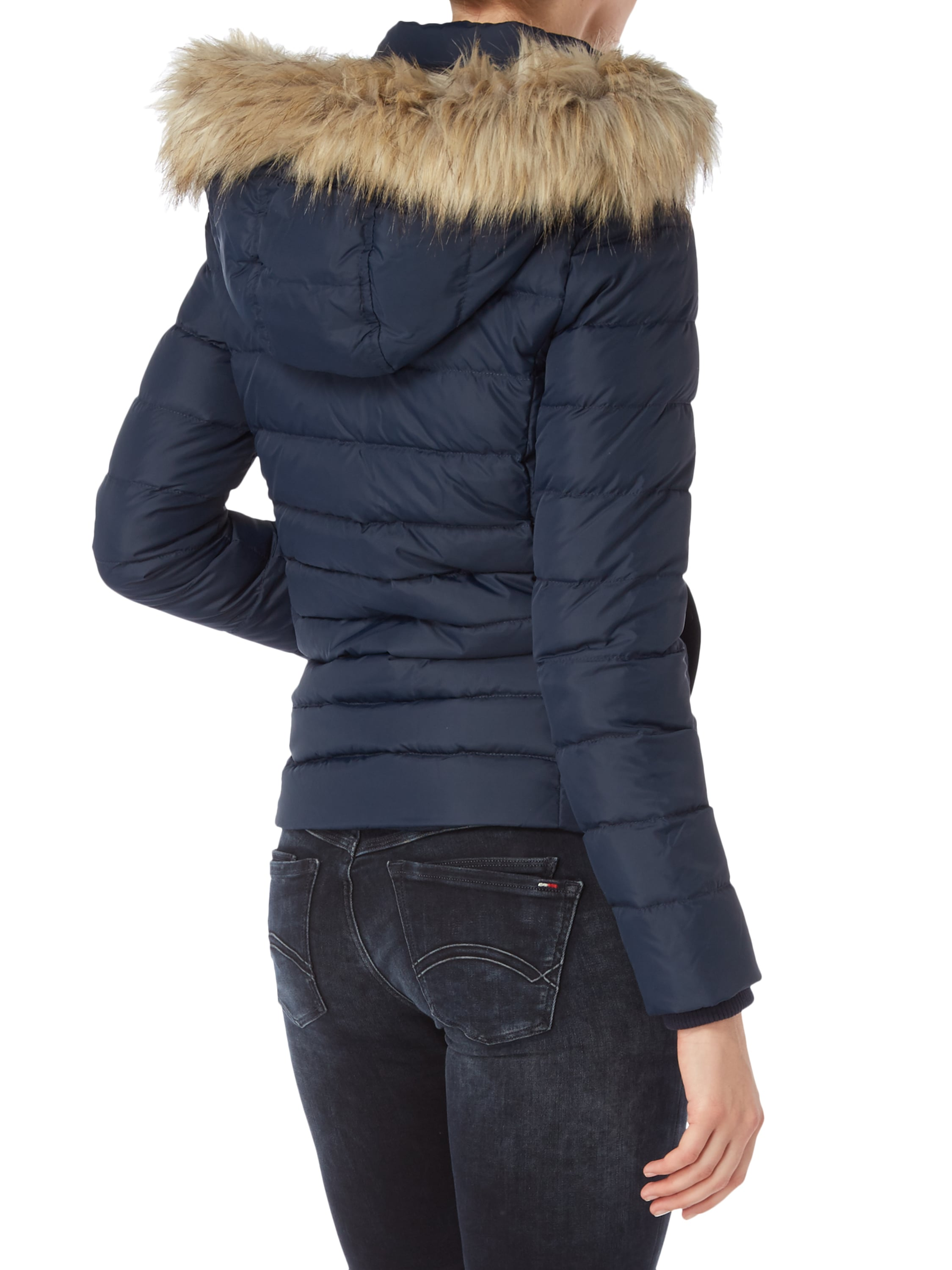 hilfiger denim steppjacke mit daunen federn f llung in blau t rkis online kaufen 9499637 p. Black Bedroom Furniture Sets. Home Design Ideas