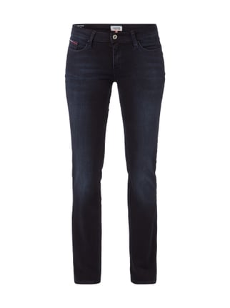 Stone Washed Bootcut Jeans Blau / Türkis - 1