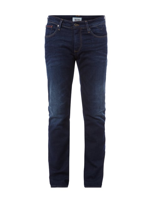 Stone Washed Original Straight Fit Jeans Blau / Türkis - 1