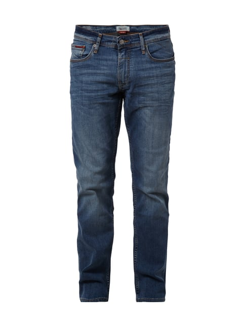Straight Fit Stone Washed Jeans Blau / Türkis - 1