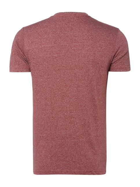 Hilfiger Denim T-Shirt in Melangeoptik Bordeaux Rot meliert - 1