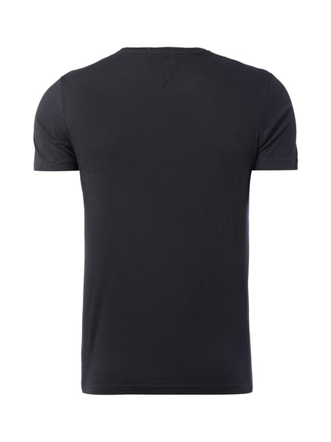 Hilfiger Denim T-Shirt mit Pilling-Effekt Anthrazit meliert - 1