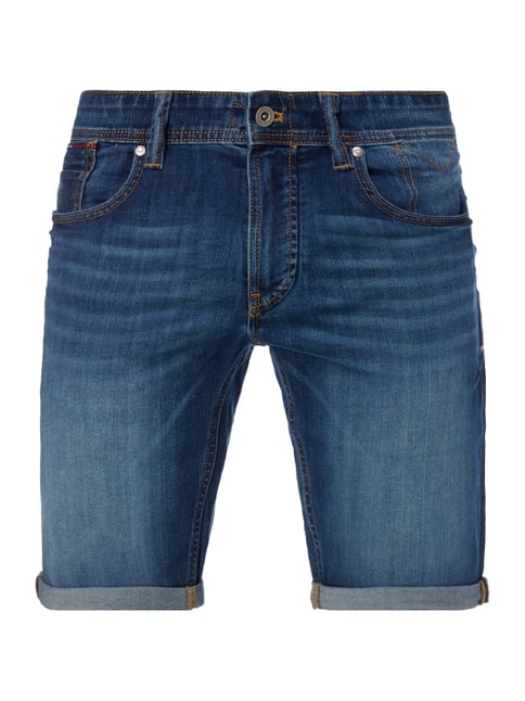 Tapered Fit Jeansbermudas Blau / Türkis - 1