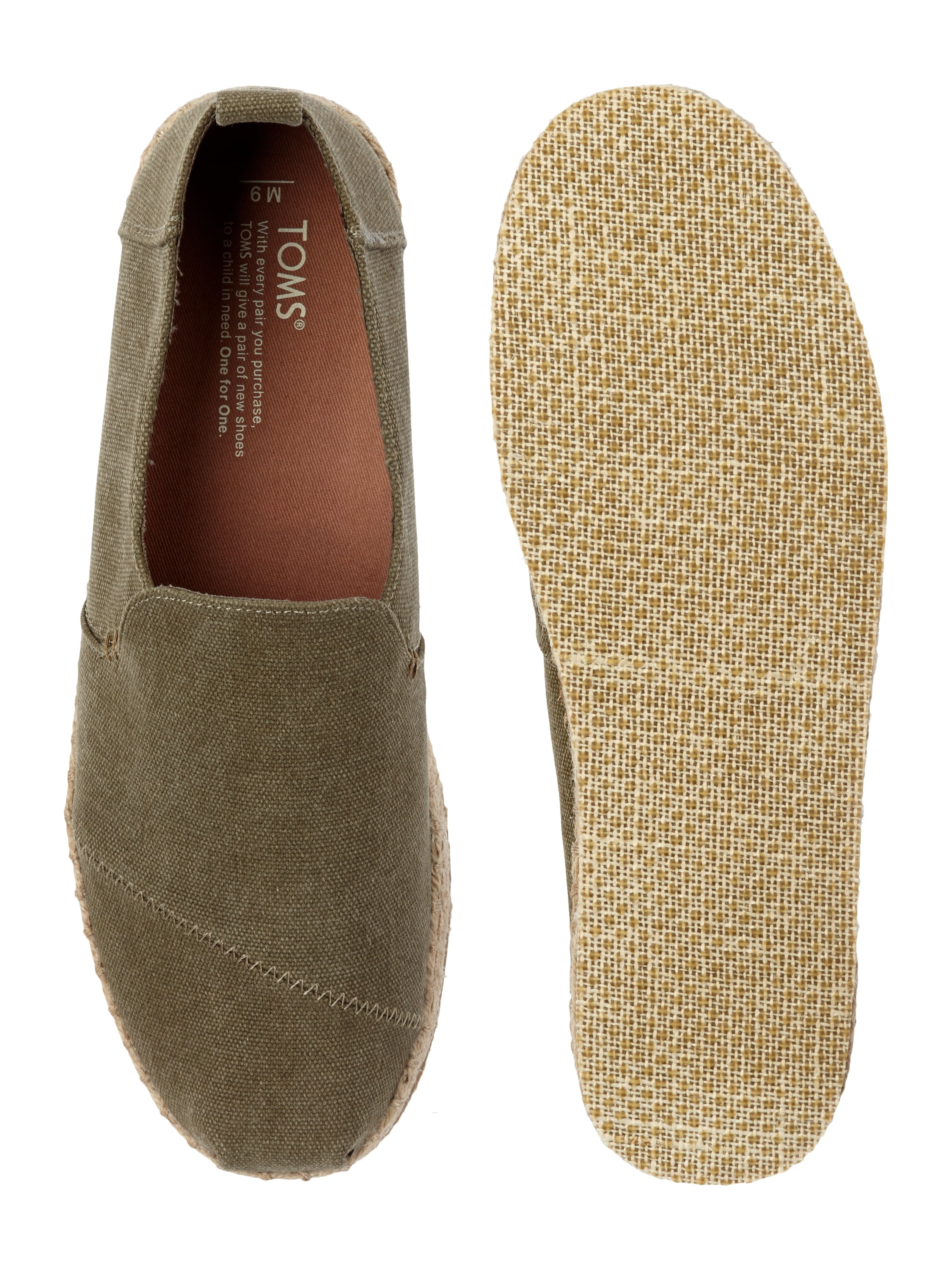 toms espadrilles mit besatz in flechtoptik in gr n online kaufen 9595523 p c online shop. Black Bedroom Furniture Sets. Home Design Ideas
