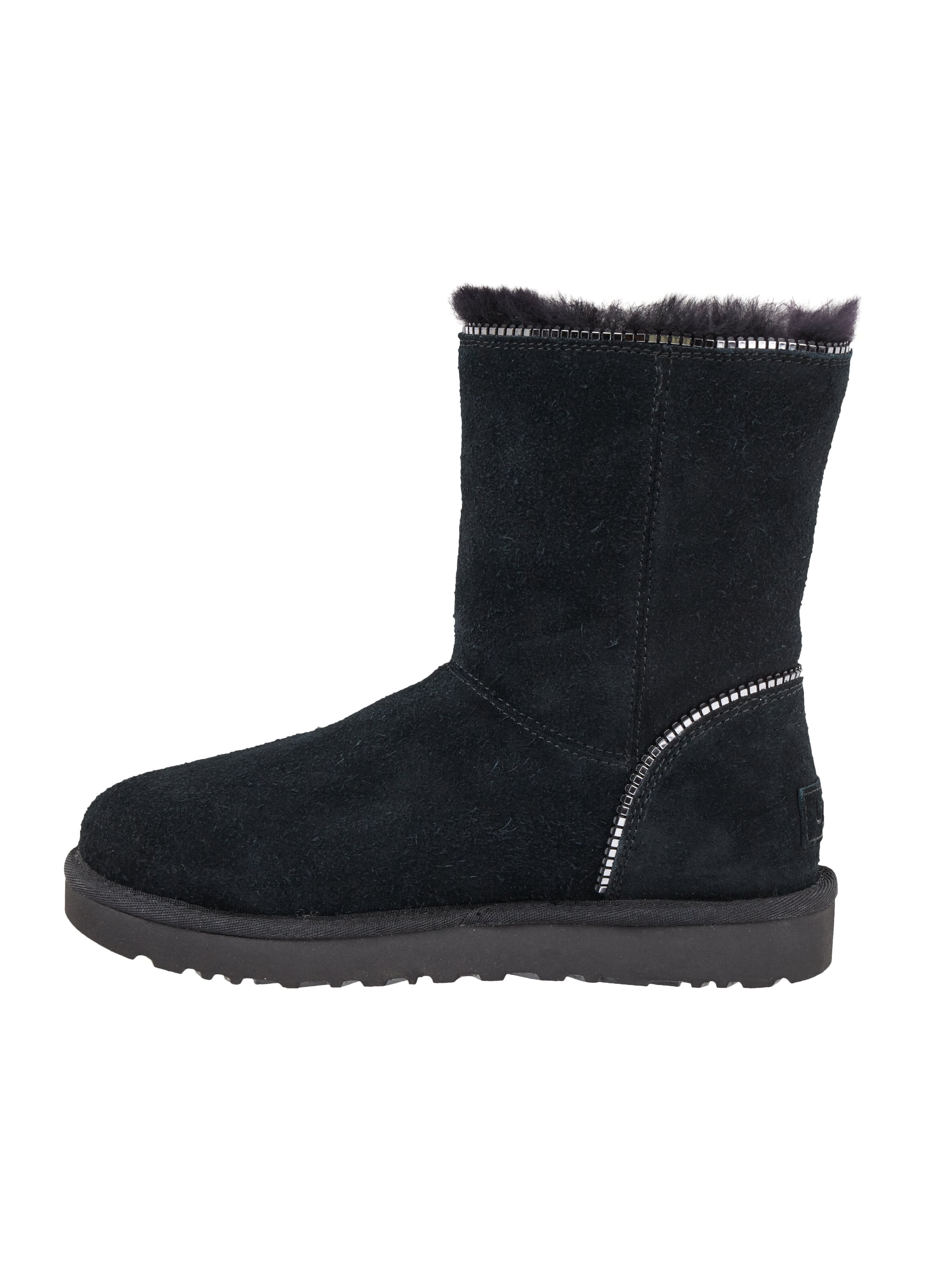 ugg australia boots aus veloursleder wasserdicht in grau schwarz online kaufen 9522631 p. Black Bedroom Furniture Sets. Home Design Ideas