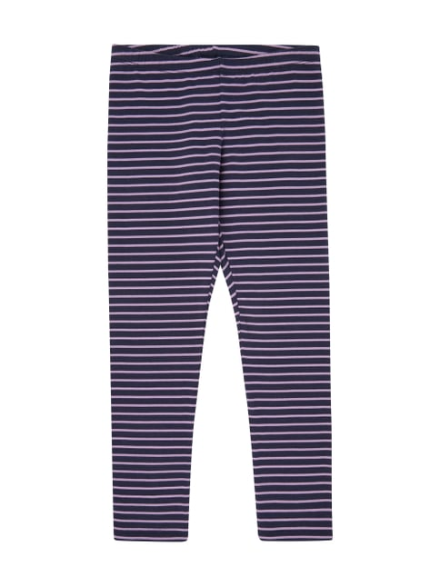 Leggings mit Allover-Muster Blau / Türkis - 1