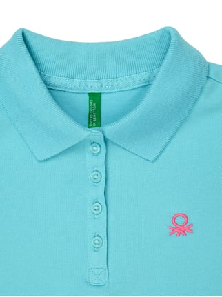 Poloshirt mit Logo-Stickerei United Colors of Benetton online kaufen - 1