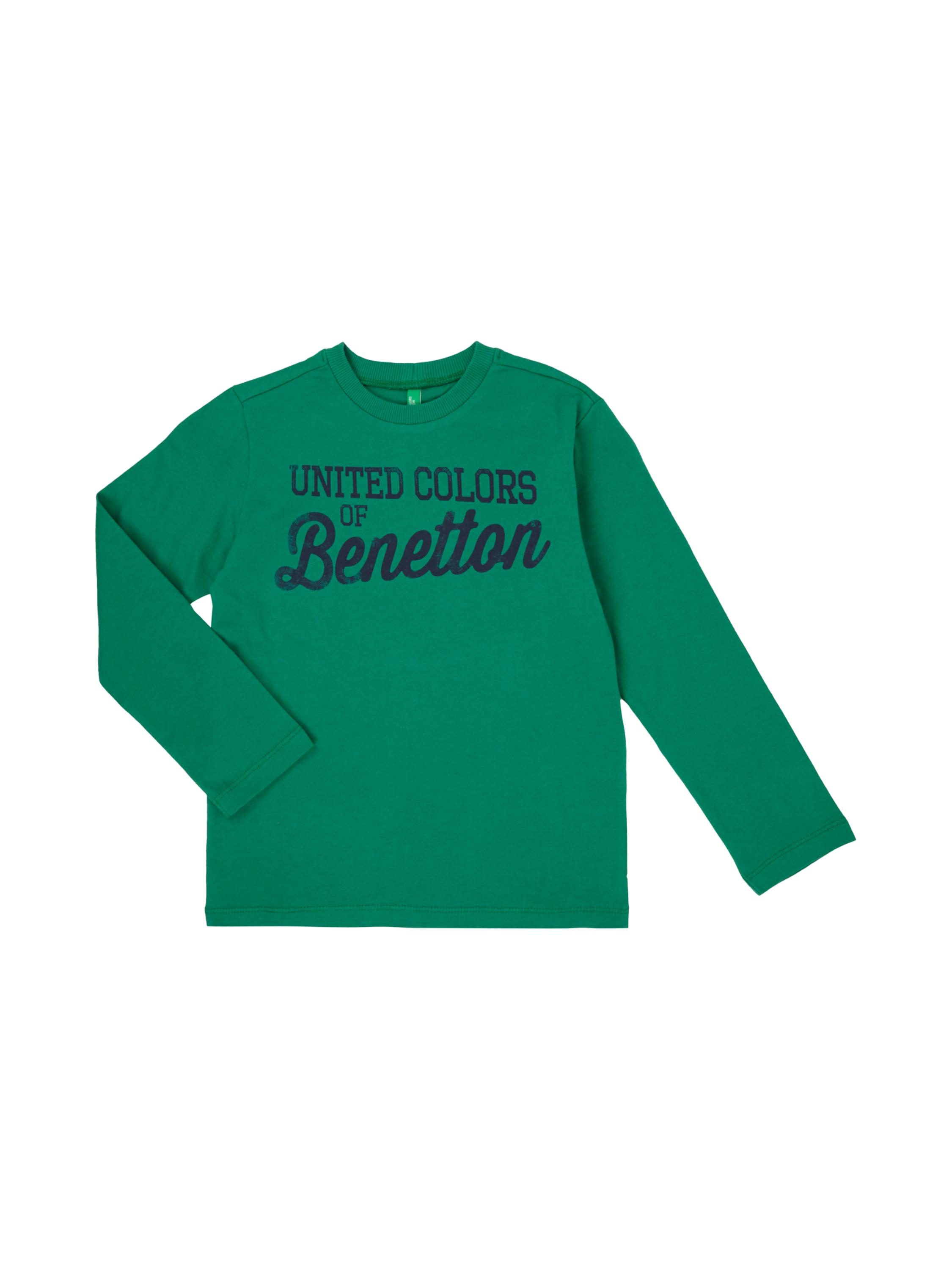 United colors of benetton shirt mit logo print in gr n for United colors of benetton logo