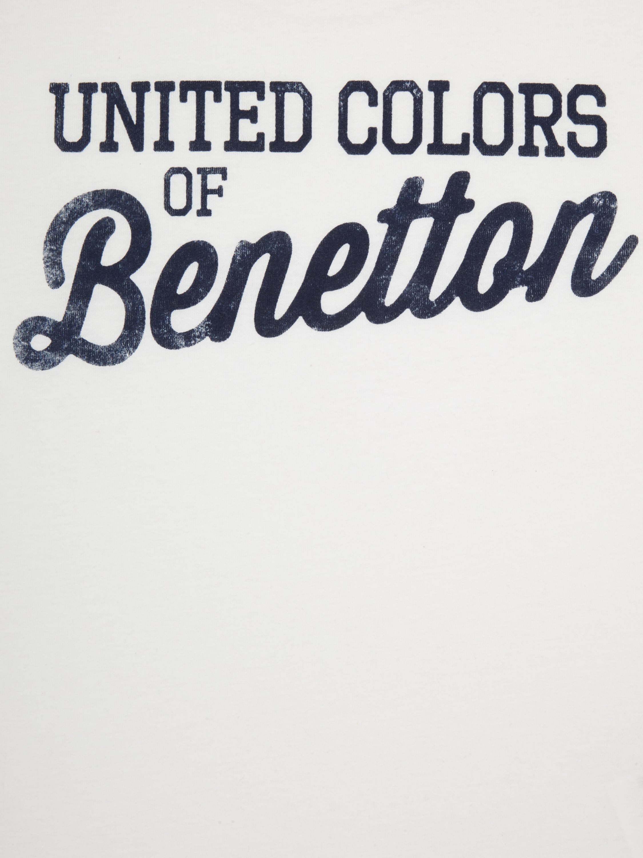 United colors of benetton shirt mit logo print in wei for United colors of benetton logo