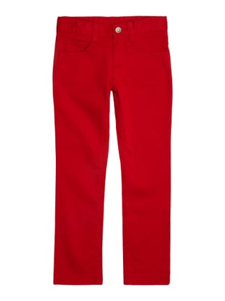 Skinny Fit 5-Pocket-Hose Rot - 1