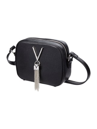 Crossbody Bag mit Logo-Applikation Grau / Schwarz - 1