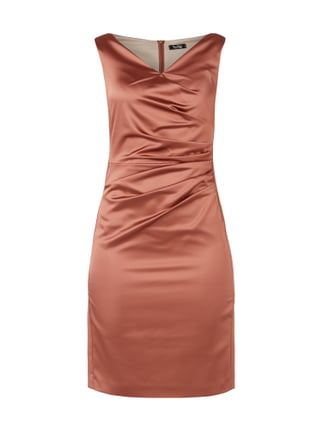 Cocktailkleid aus Satin Orange - 1