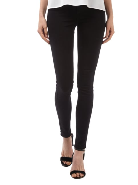 Vero Moda High Waist Jeans aus Coloured Denim Schwarz - 1