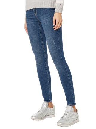 Vero Moda Super Slim Fit Jeans im Used Look Bleu - 1