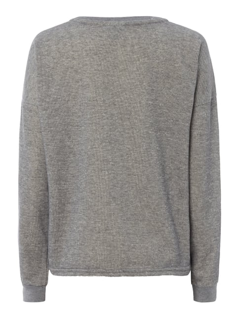 Vero Moda Sweatshirt mit Patches und Message-Prints Silber meliert - 1