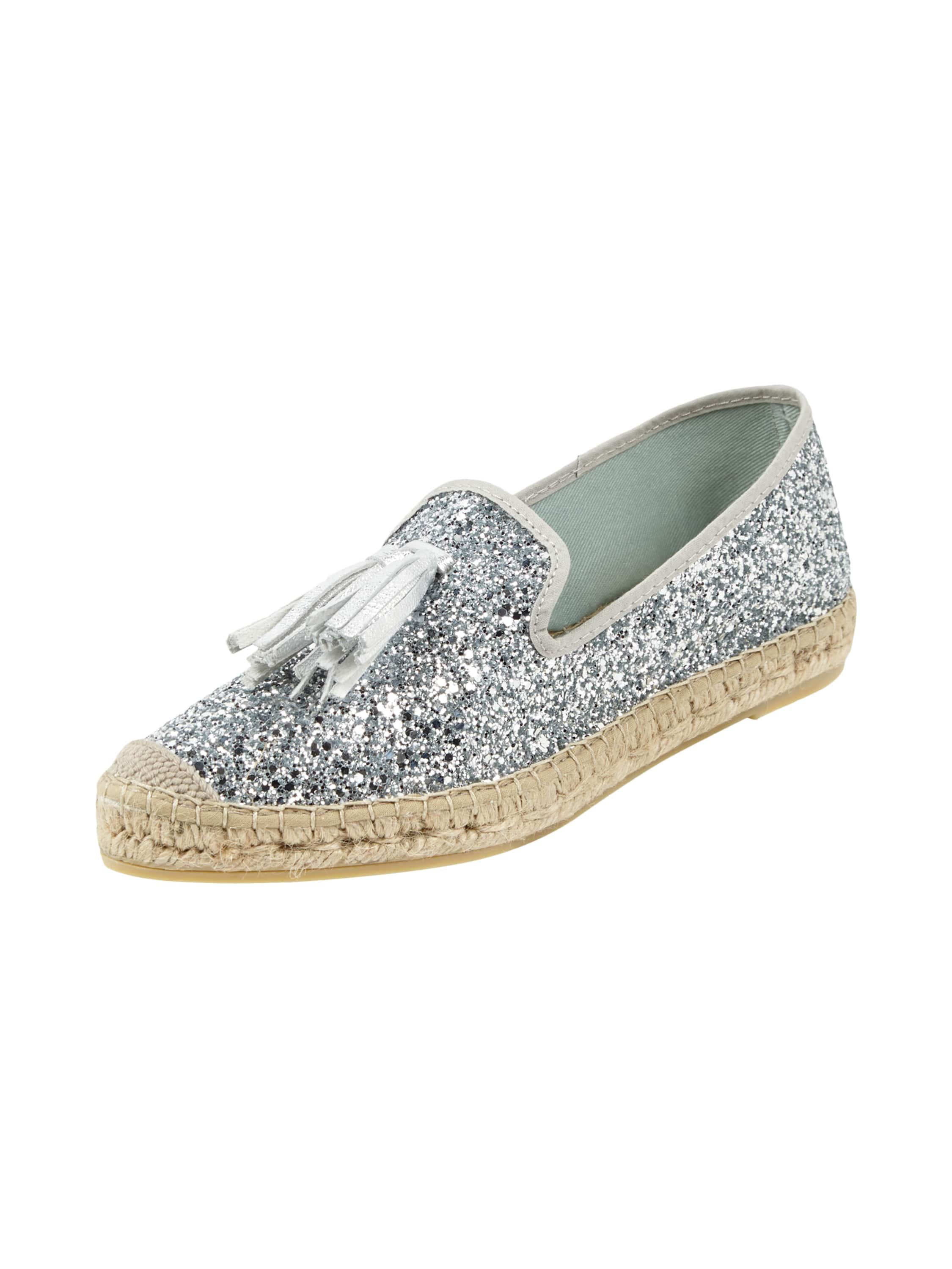 vidorreta espadrilles aus echtem leder mit glitter effekt. Black Bedroom Furniture Sets. Home Design Ideas
